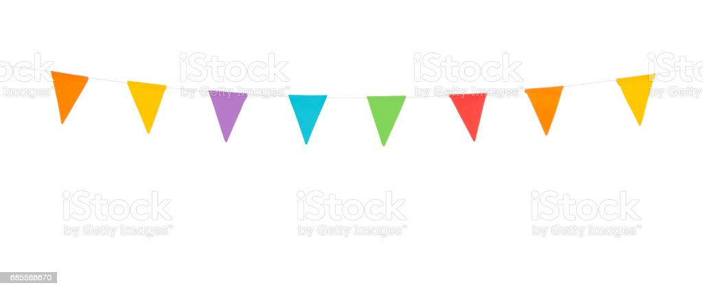 party flags isolated on a white background - foto de stock
