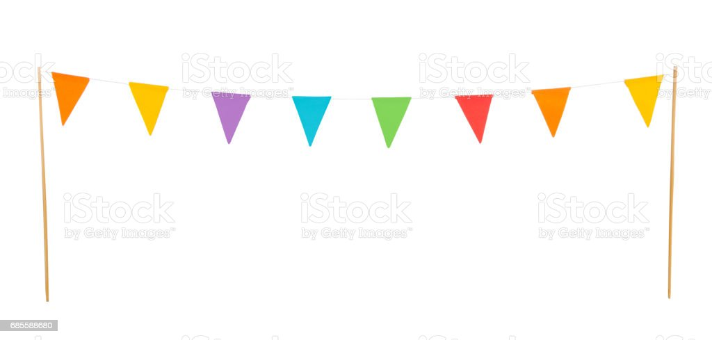 party flags isolated on a white background ロイヤリティフリーストックフォト