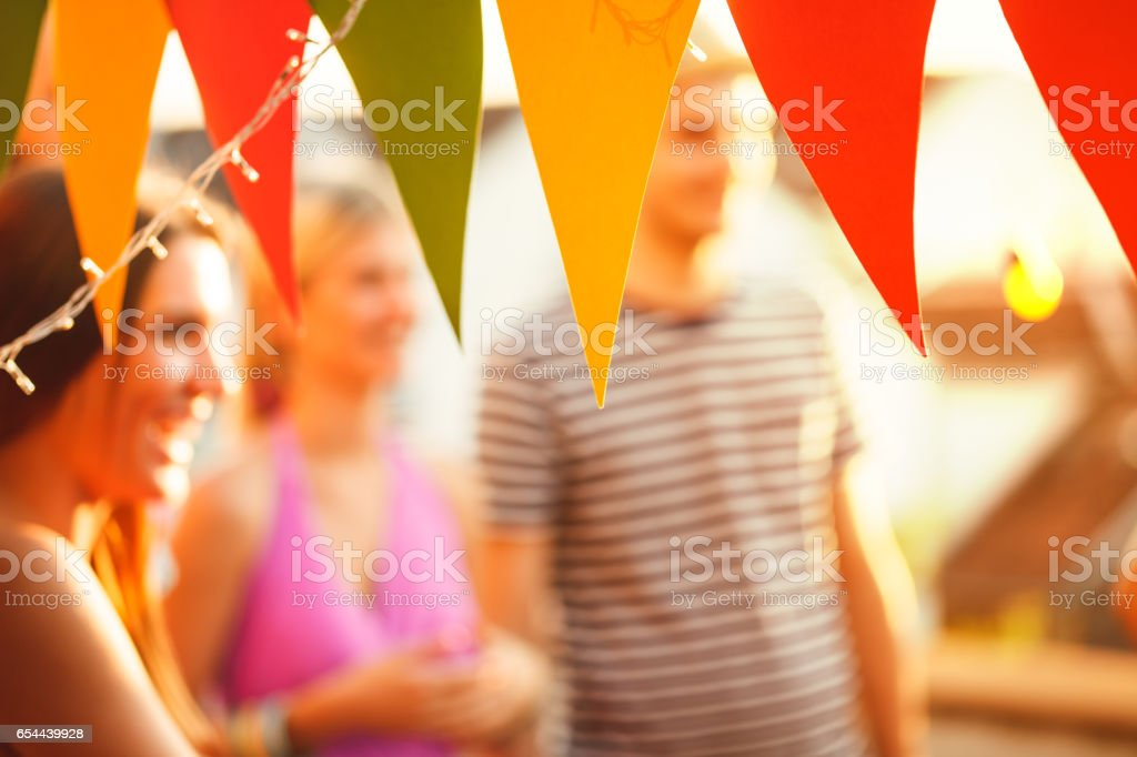Party flags - fotografia de stock