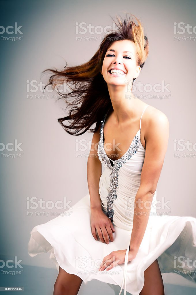 party Girl Dancing stock photo