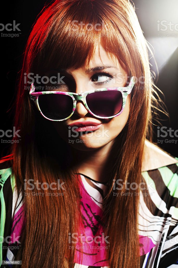 Party girl royalty-free stock photo