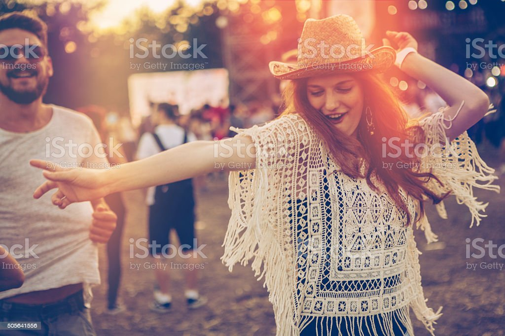 Party girl! stock photo