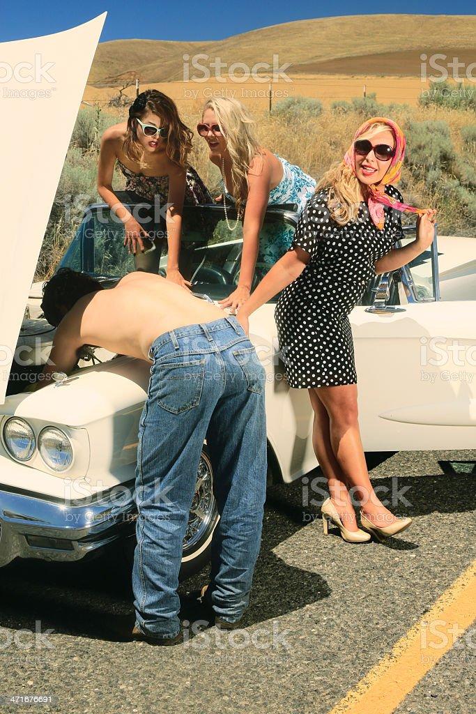 Party Girls Breakdown royalty-free stock photo