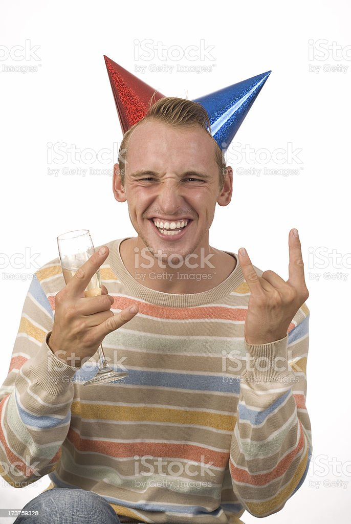 Party Guy royalty-free stock photo