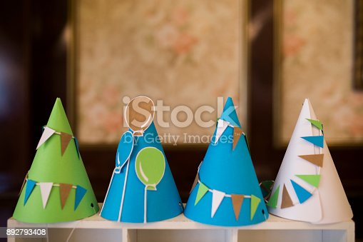 1135969446 istock photo Party hat background 892793408