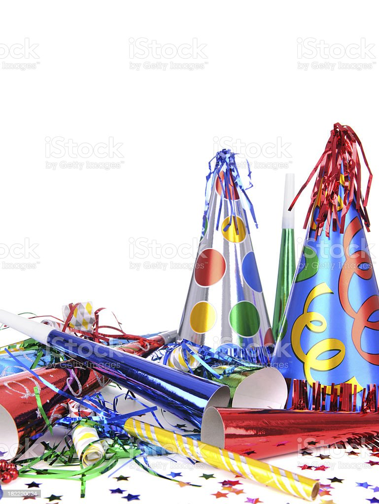 Party Hats And Horns royalty-free stock photo