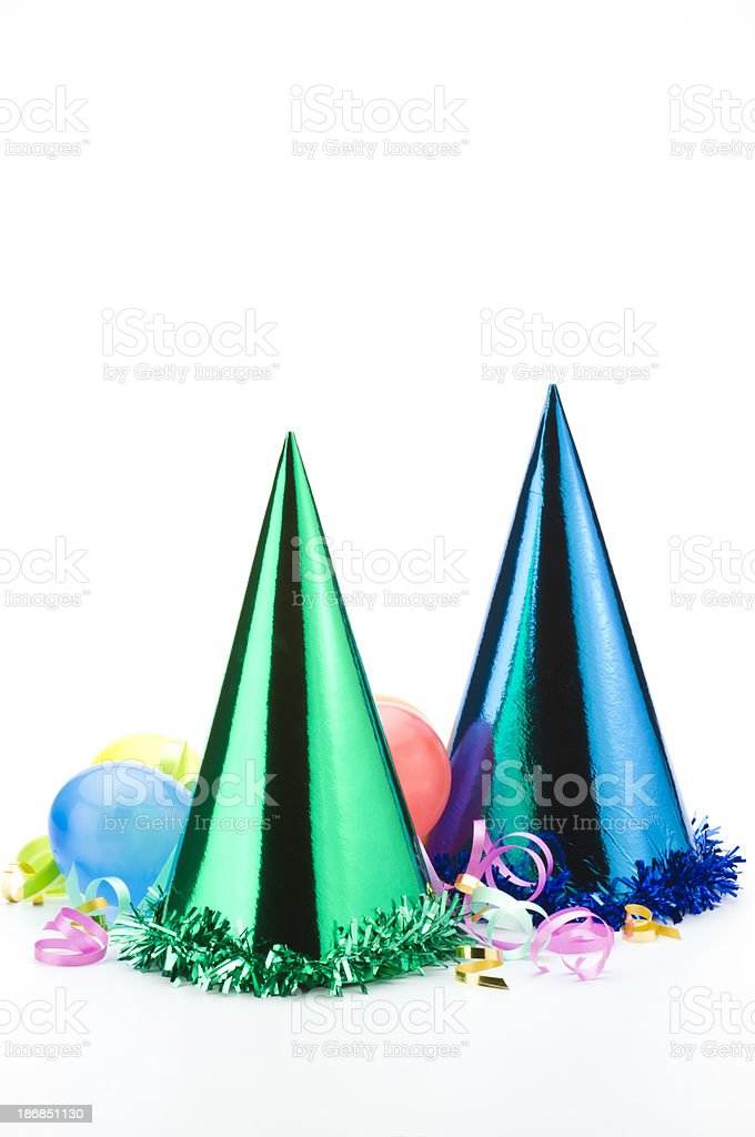 Party Hats on White royalty-free stock photo
