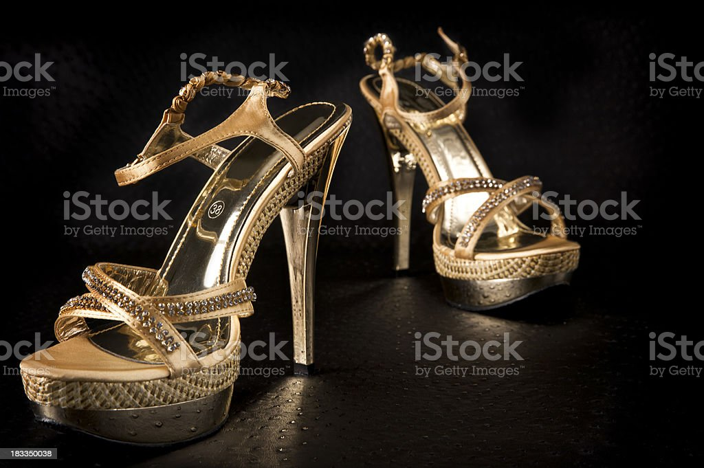 Party high heeled shoes royalty-free stock photo