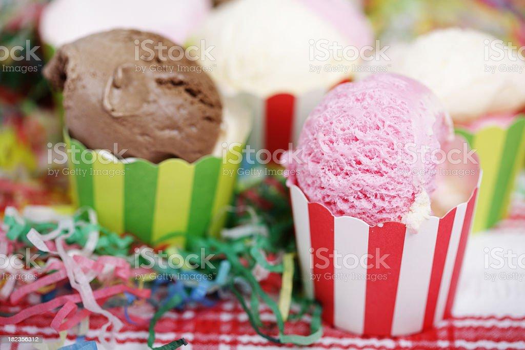 Party Ice Creams royalty-free stock photo