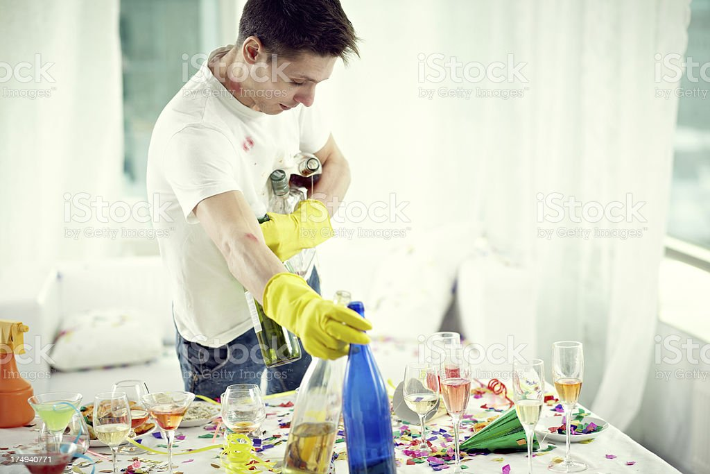 Party is finishing stock photo