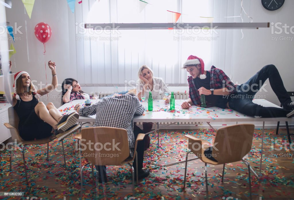 Party is over stock photo