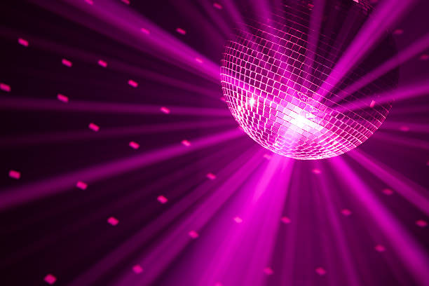 party lights background - dance floor stock photos and pictures