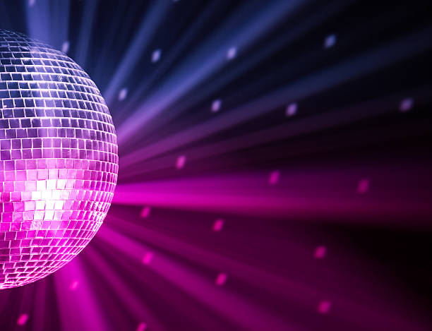 party lights disco ball party lights disco ball, blue and purple colors nightclub stock pictures, royalty-free photos & images