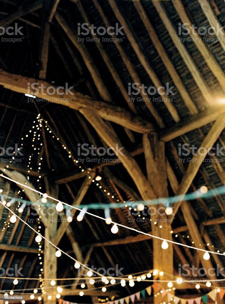 Party lights stock photo