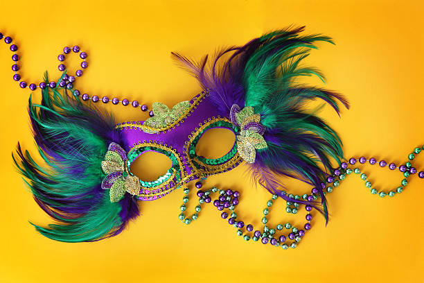 festa máscara na amarela - mardi gras - fotografias e filmes do acervo