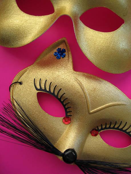 party masken 2 - rosa camo party stock-fotos und bilder