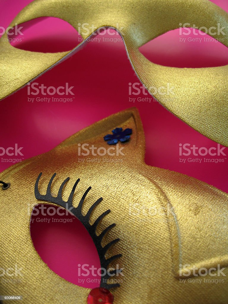 Party Masks 3 royalty-free stock photo