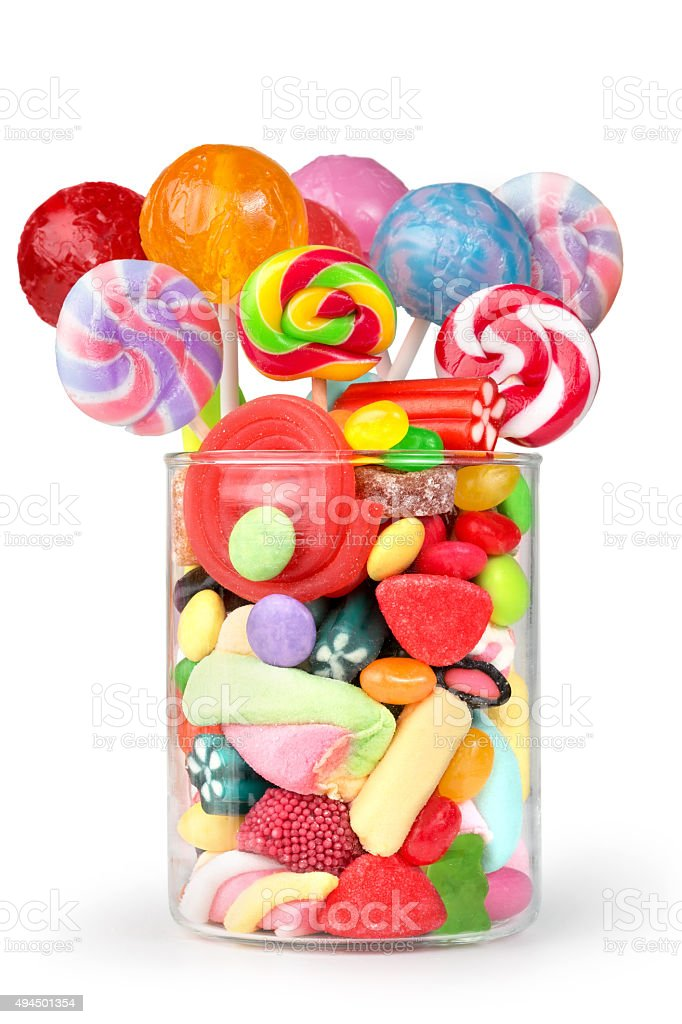 party mix sweets stock photo
