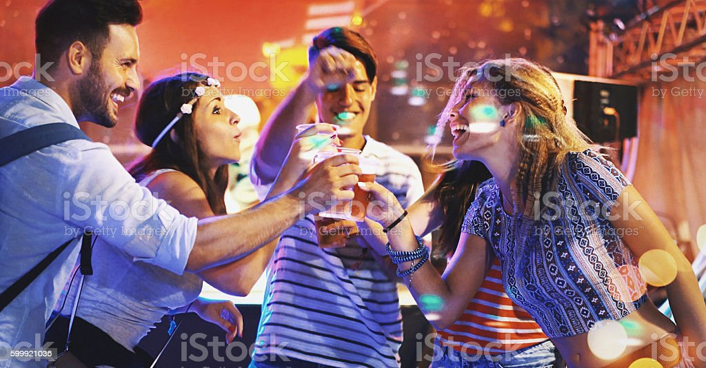Party mode. stock photo