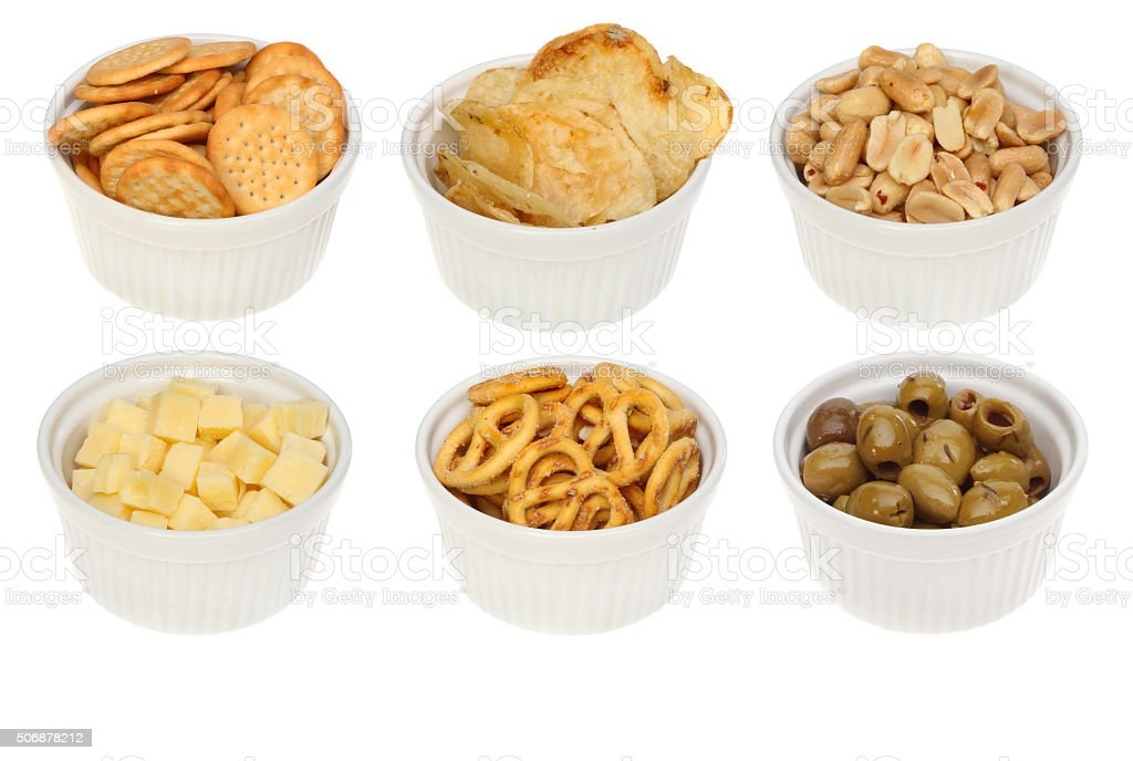 Party nibbles stock photo
