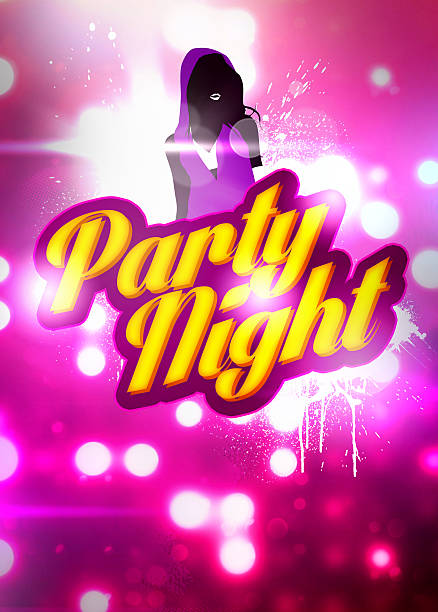 party night background - hip hop poster bildbanksfoton och bilder