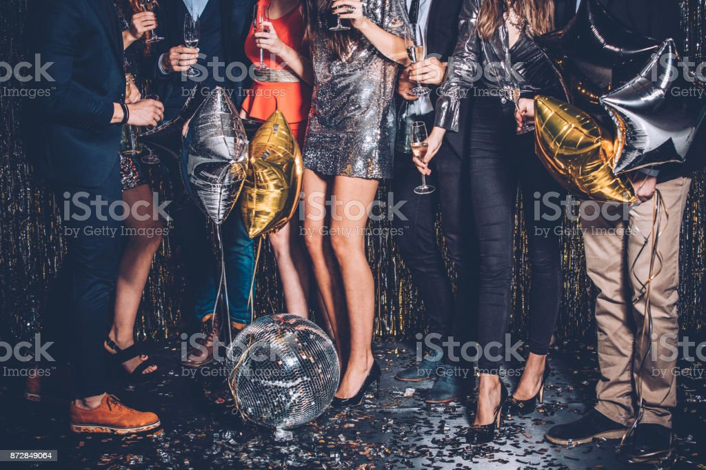 Party night stock photo