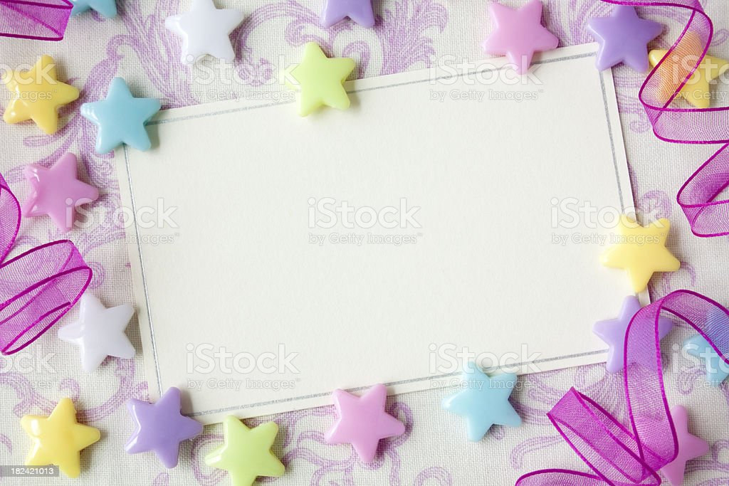 Party Notecard stock photo