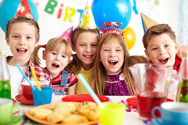 Party of friends stock photo