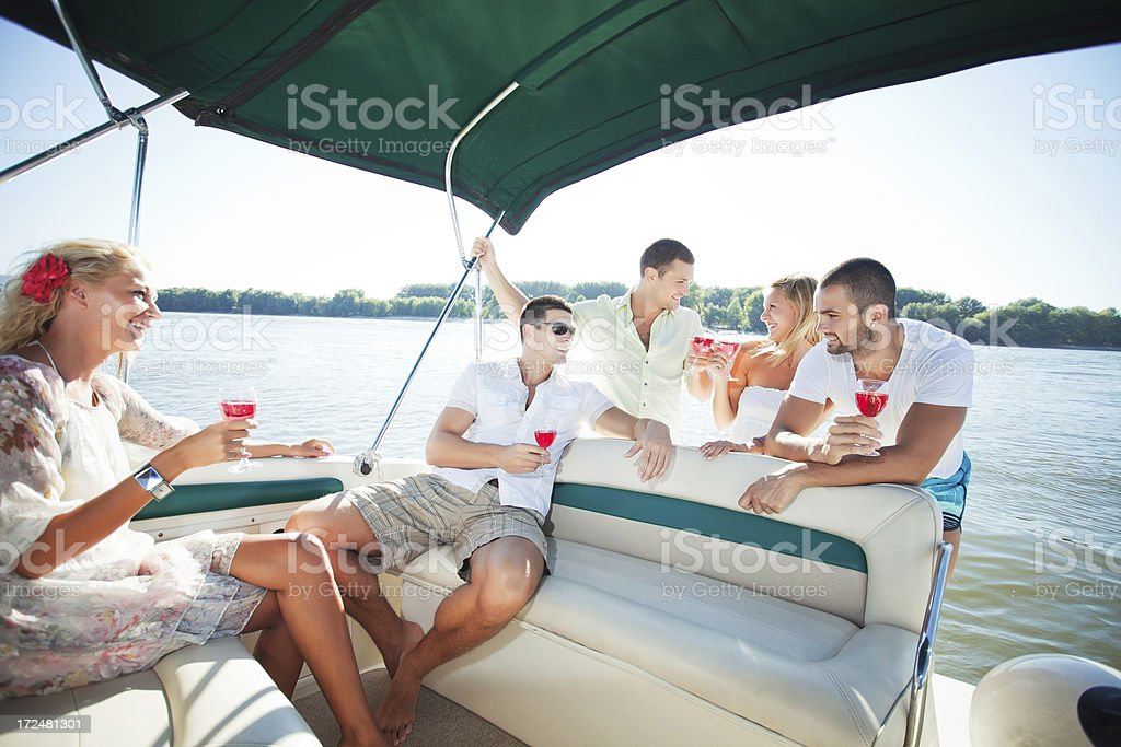 Party on the boat. royalty-free stock photo