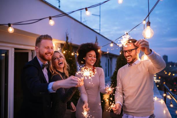 Party auf dem Dach – Foto
