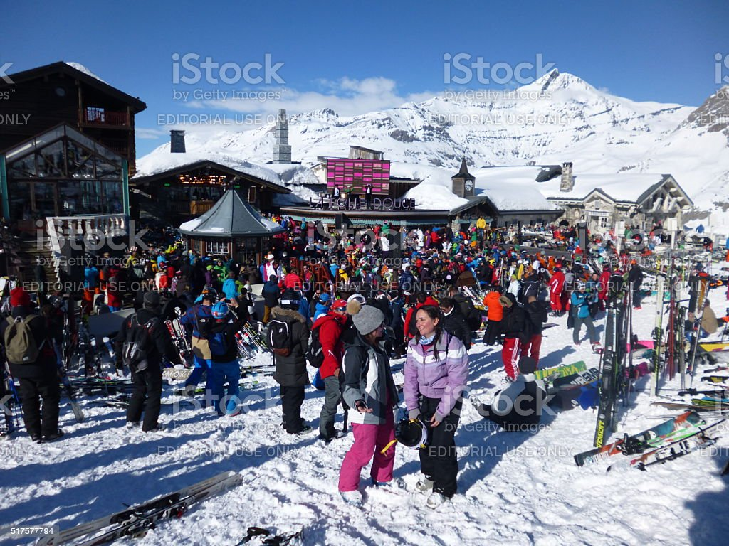 Party on the Slopes stock photo