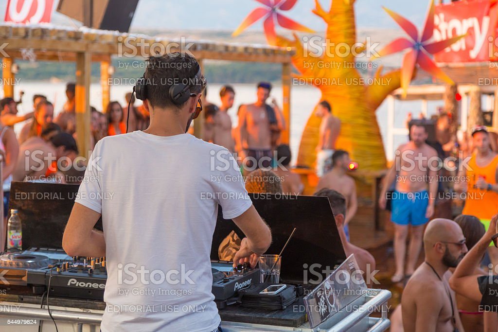 Party on Zrce beach, Novalja, Pag island, Croatia.​​​ foto