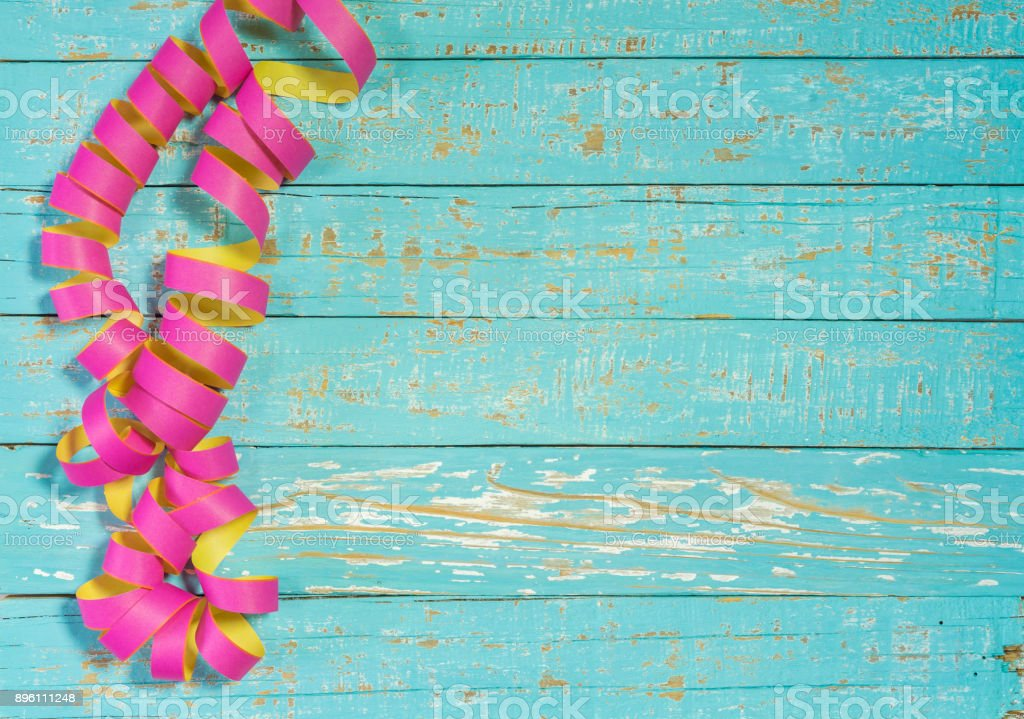 Party Or Birthday Celebration Background With Streamers