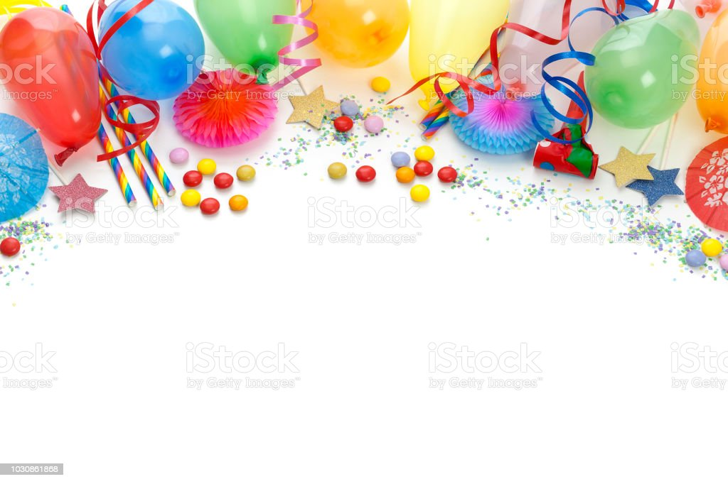 party or carvival accessories on white background stock photo more