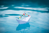 Pool Party Paper Boat