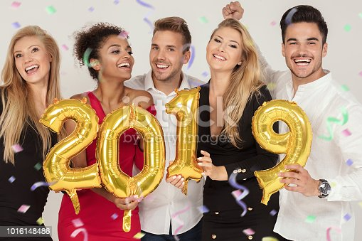istock Party people celebrating new years eve. 1016148486