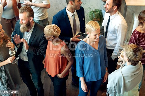 istock Party People Communication Talking Happiness Concept 665394842