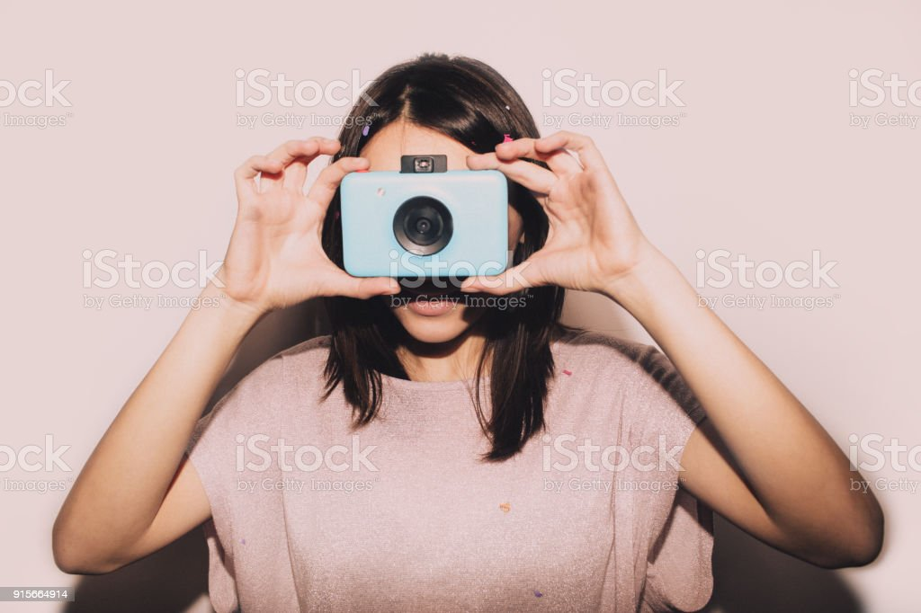 Party photographer stock photo
