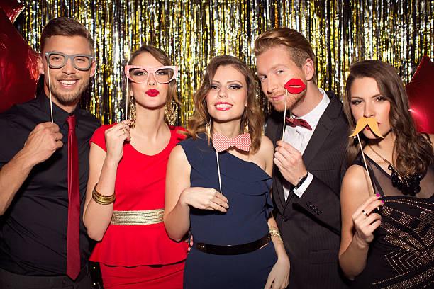 party. - schnurrbart themenpartys stock-fotos und bilder