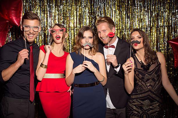 party. - schnurrbart fotoautomaten stock-fotos und bilder
