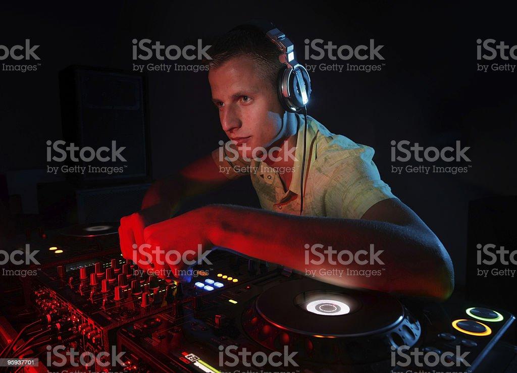 DJ party royalty-free stock photo