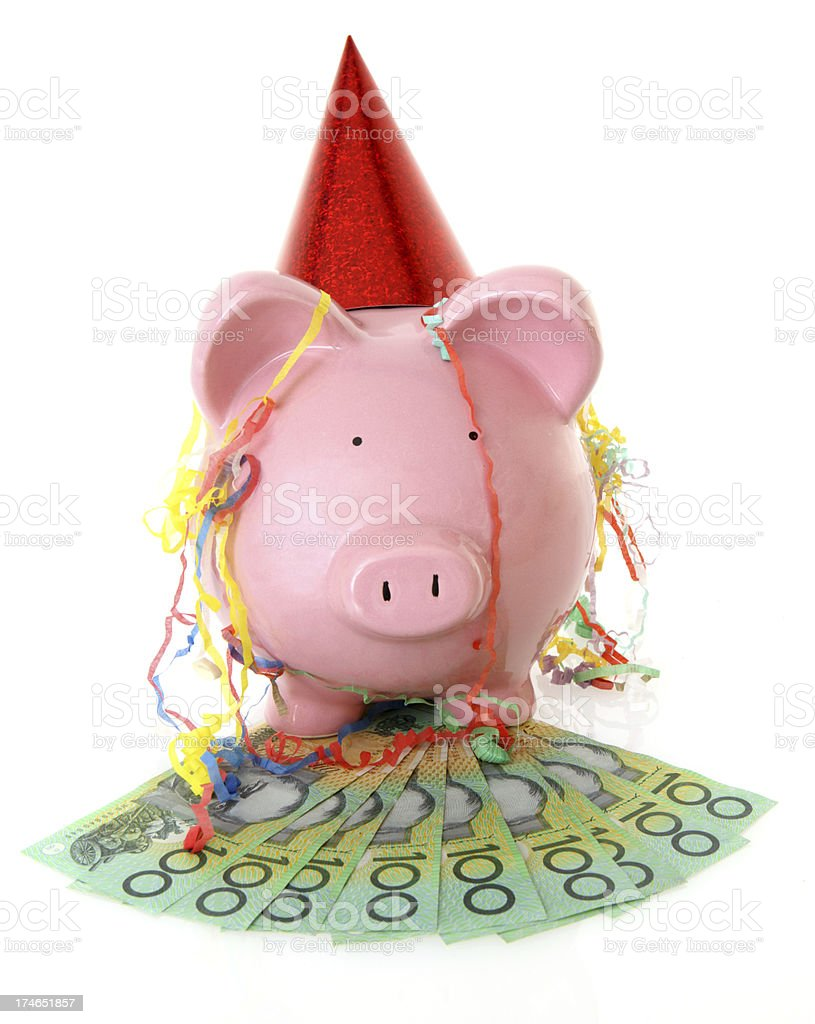 Party Piggy Bank royalty-free stock photo