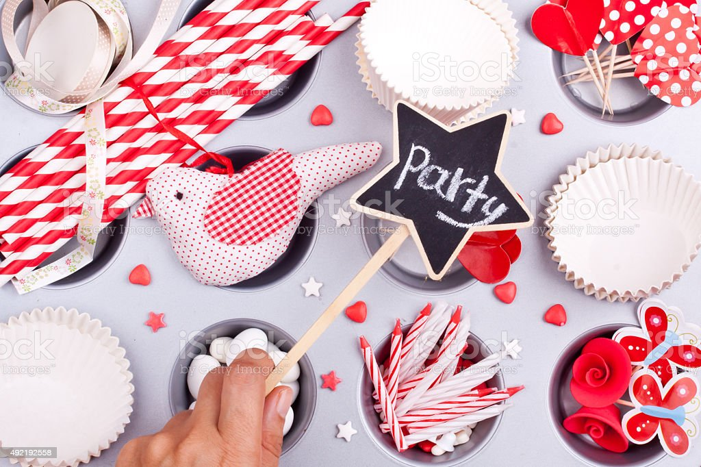 party preparation stock photo