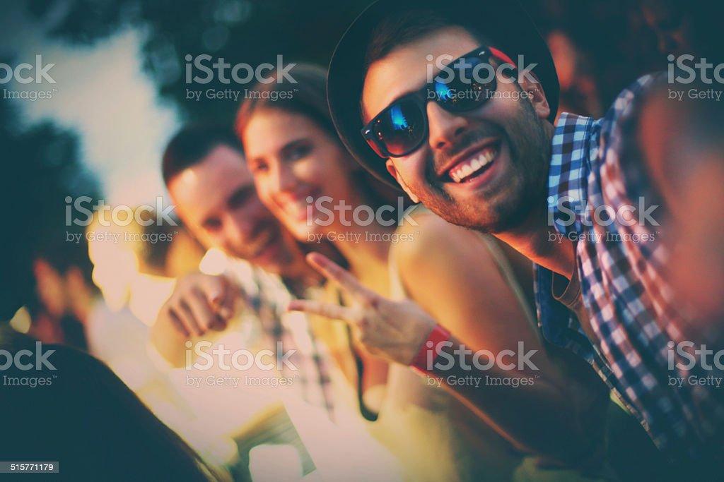 Festa selfie. - foto de acervo