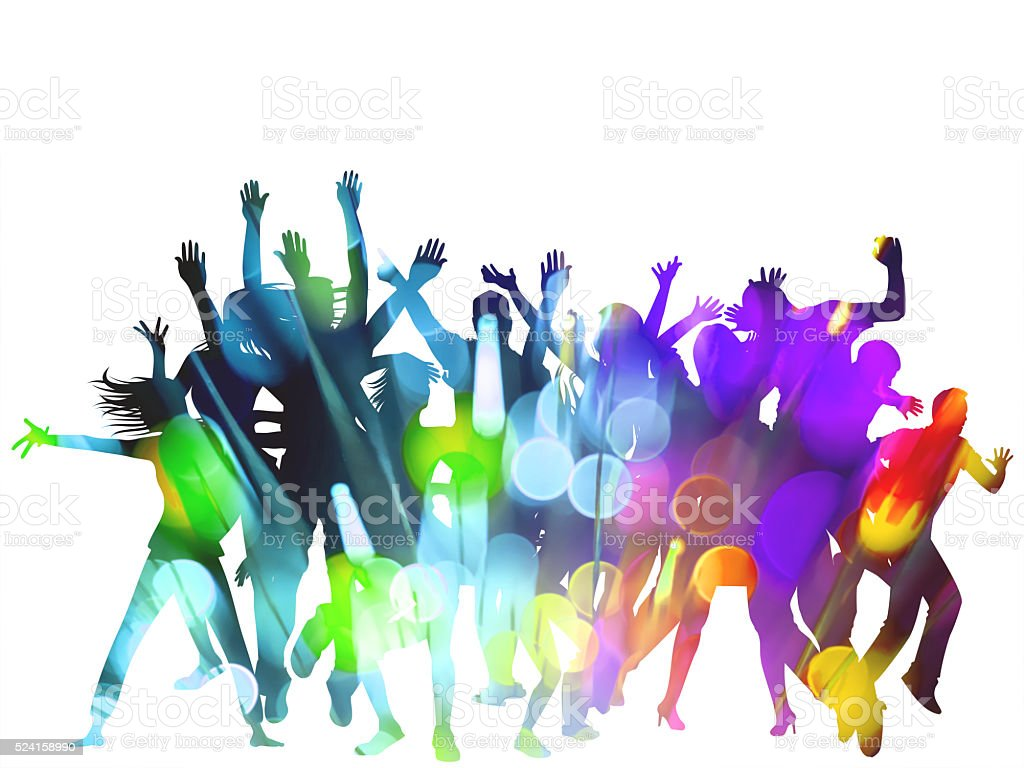 Party Silhouettes stock photo