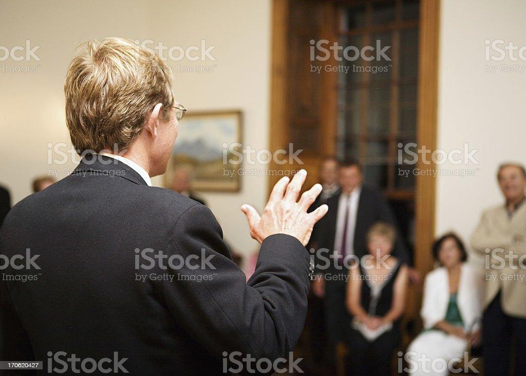 Party speech royalty-free stock photo