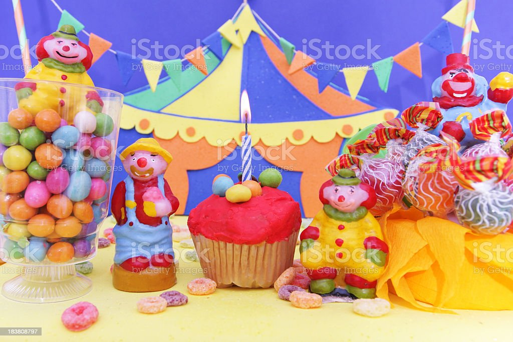 Fabulous Party Table With Circus Theme Decoration Stock Photo Download Funny Birthday Cards Online Elaedamsfinfo