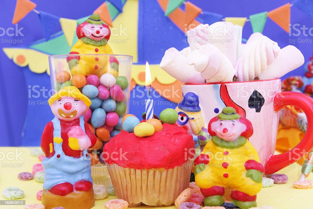 Pleasing Party Table With Circus Theme Decoration Stock Photo Download Funny Birthday Cards Online Elaedamsfinfo