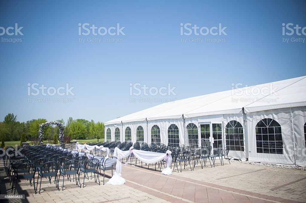 Party Tent stock photo