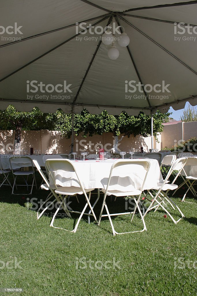 Party Tent Setup royalty-free stock photo